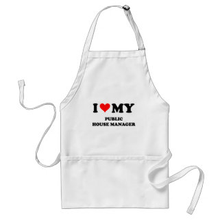 I Love My Public House Manager Aprons