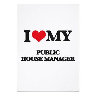 "I love my Public House Manager 5"" X 7"" Invitation Card"