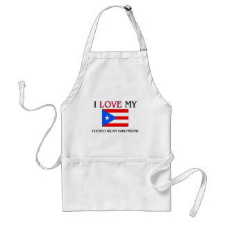 I Love My Puerto Rican Girlfriend Aprons