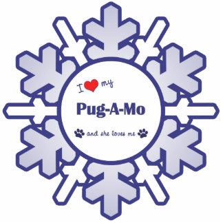 I Love My Pug-A-Mo (Female Dog) Photo Sculpture