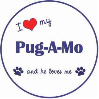 I Love My Pug-A-Mo (Male Dog) Acrylic Cut Out