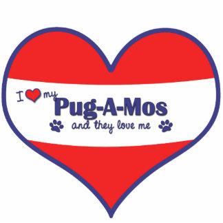 I Love My Pug-A-Mos (Multiple Dogs) Photo Cutouts