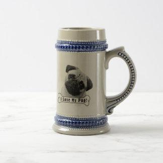 I Love My Pug! Beer Stein