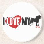 I Love My Pug Beverage Coaster