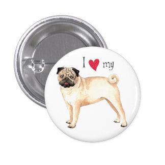 I Love my Pug Pin