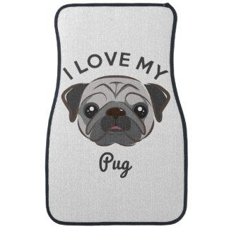 """""""I Love My Pug"""" Car Mats"""