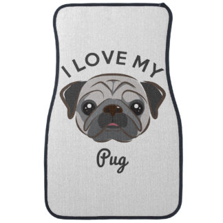 """""""I Love My Pug"""" Car Mats Car Mat"""