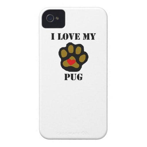I Love My Pug iPhone 4 Covers