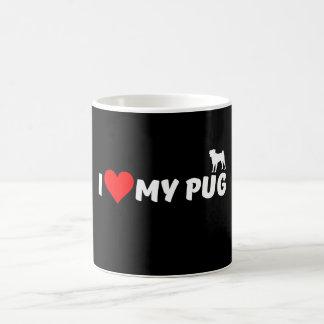 I Love My Pug Coffee Mug