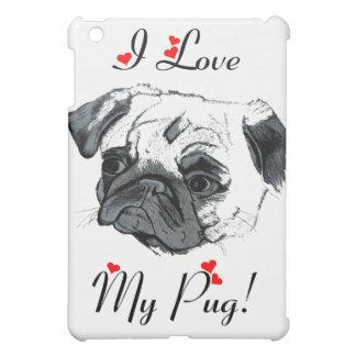 I Love My Pug! Cute Case For The iPad Mini