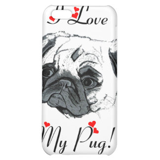 I Love My Pug! Cute Cover For iPhone 5C