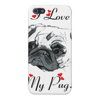 I Love My Pug! Cute iPhone 5 Cases