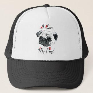 I Love My Pug! Cute Trucker Hat