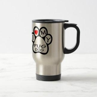 I Love My Pug Dog Coffee Mug