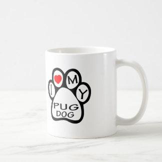I Love My Pug Dog Mug