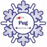 I Love My Pug (Female Dog) Photo Cutouts