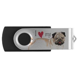 I Love my Pug Flash Drive