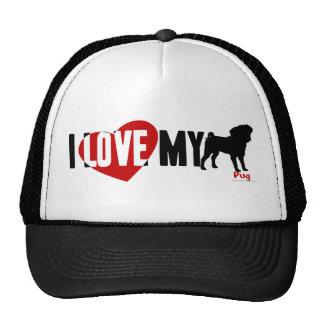 I Love My Pug Hats