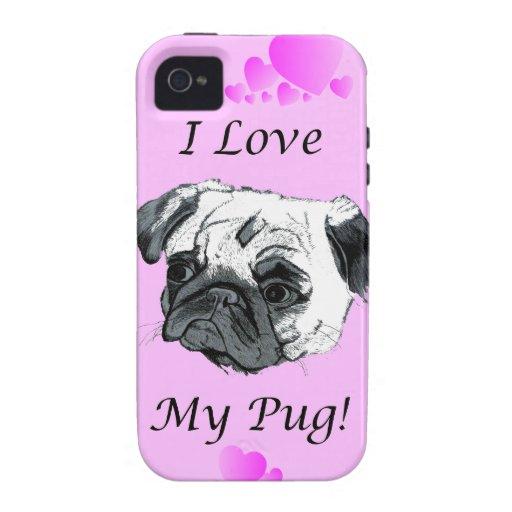 I Love My Pug iPhone 4/4S Case-Mate Case