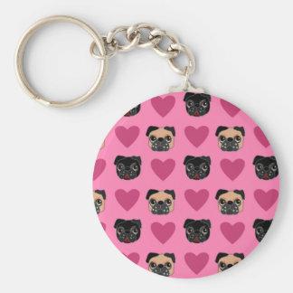I Love My Pug Keychain
