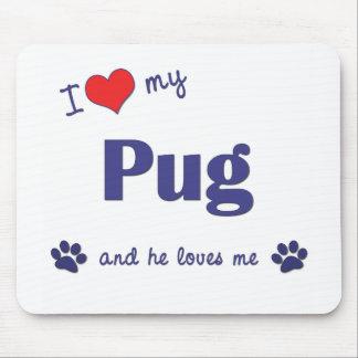 I Love My Pug (Male Dog) Mouse Mats
