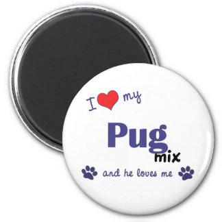 I Love My Pug Mix (Male Dog) Magnet