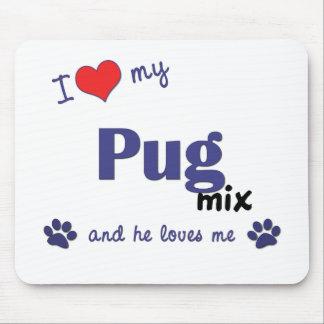 I Love My Pug Mix (Male Dog) Mouse Mat