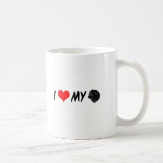 I Love My Pug Coffee Mugs