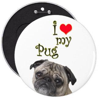 I Love My Pug Pinback Button