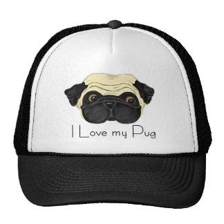 I Love my Pug Trucker Hat