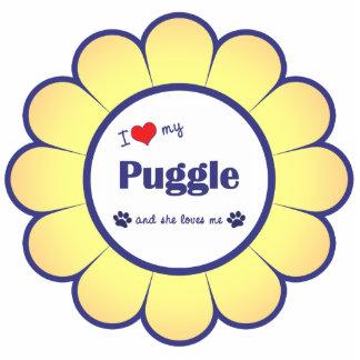 I Love My Puggle (Female Dog) Cutout