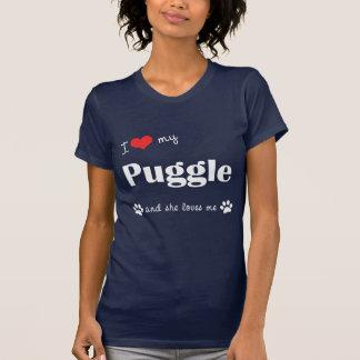 I Love My Puggle (Female Dog) T Shirt