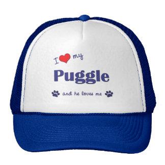 I Love My Puggle (Male Dog) Trucker Hat