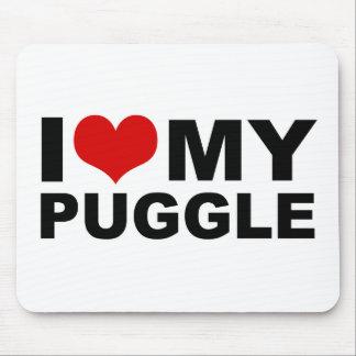 I Love My Puggle Mousepad