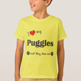 I Love My Puggles (Multiple Dogs) T-Shirt
