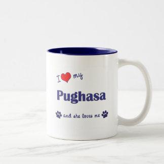 I Love My Pughasa (Female Dog) Mugs