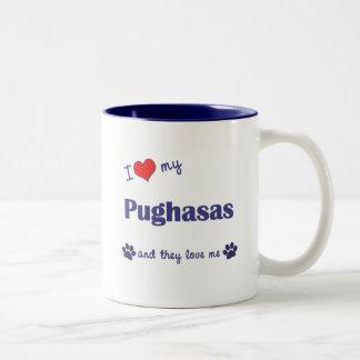 I Love My Pughasas (Multiple Dogs) Mug