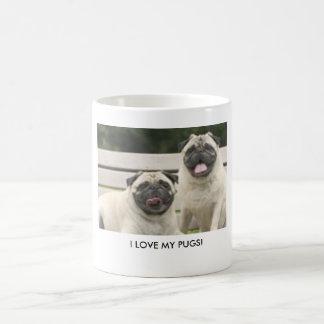 I LOVE MY PUGS! COFFEE MUG