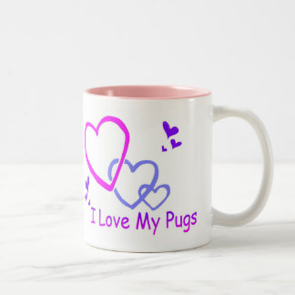 I love my Pugs Mug!! Two-Tone Coffee Mug