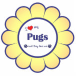 I Love My Pugs (Multiple Dogs) Photo Cutout