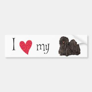 I Love my Puli Bumper Sticker