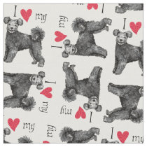 I Love my Pumi Fabric