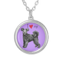 I Love my Pumi Silver Plated Necklace