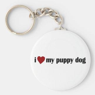 I Love My Puppy Dog Keychain