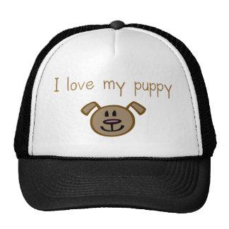 I love my puppy trucker hat