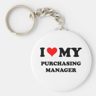 I Love My Purchasing Manager Key Chain