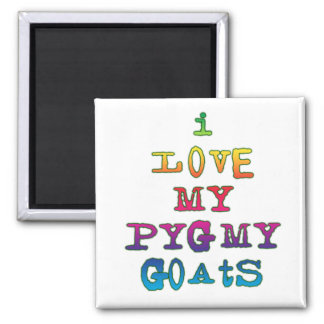 I Love My Pygmy Goats 2 Inch Square Magnet