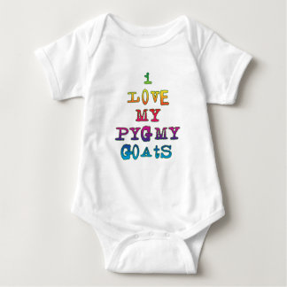 I Love My Pygmy Goats Baby Bodysuit