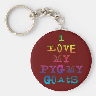I Love My Pygmy Goats Basic Round Button Keychain