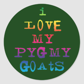 I Love My Pygmy Goats Classic Round Sticker